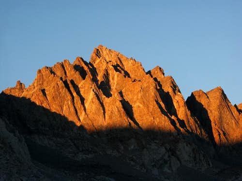 Sunset alpenglow on Mt....
