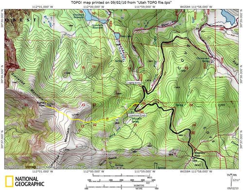 Glenwood Mountain Map