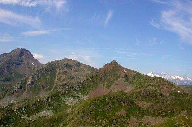 Left side Mont Fallere, Right...