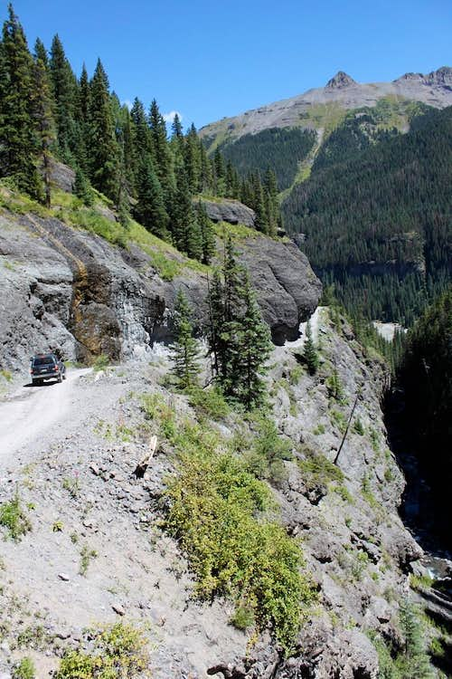 4 WD road to Yankee Boy Basin
