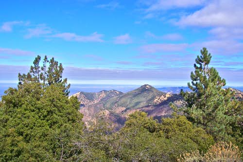 View of Zaca Peak from the top
