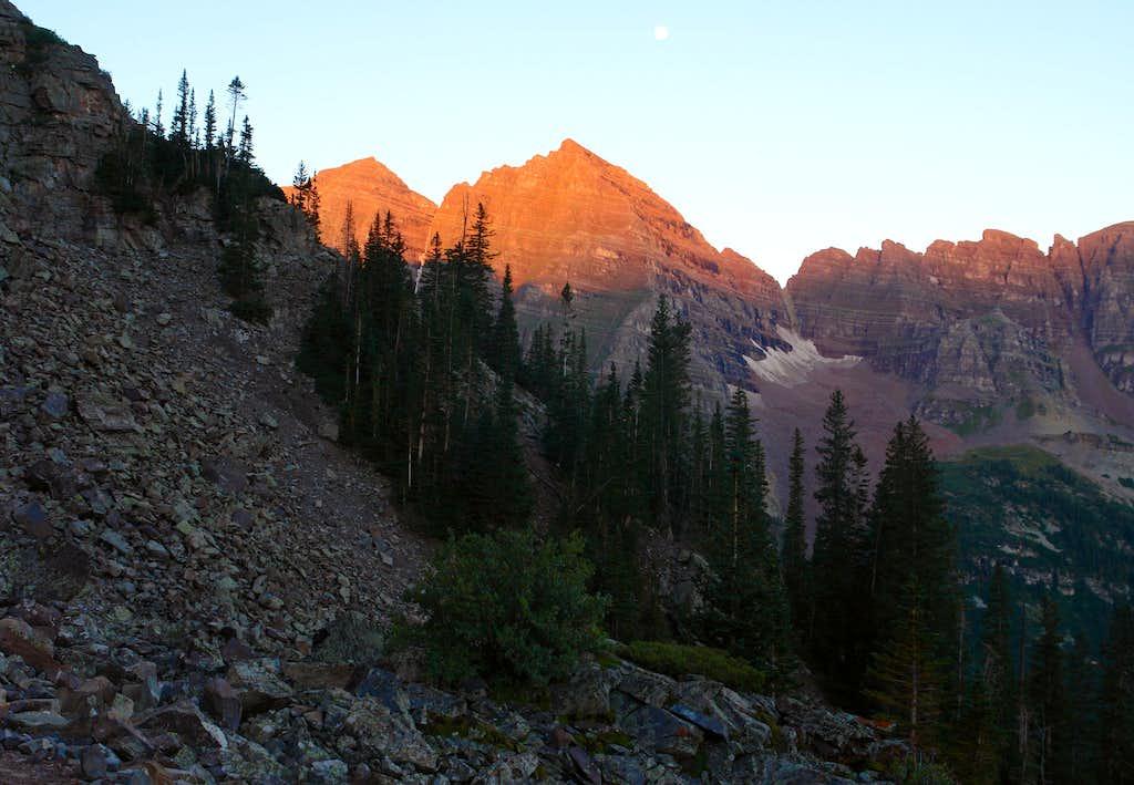 Maroon Peaks from Pyramid Peak Trail