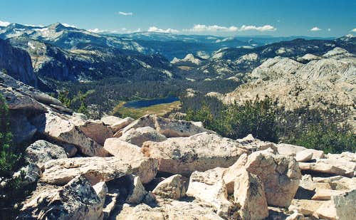 Southwest from Reymann Peak towards Little Yosemite Valley
