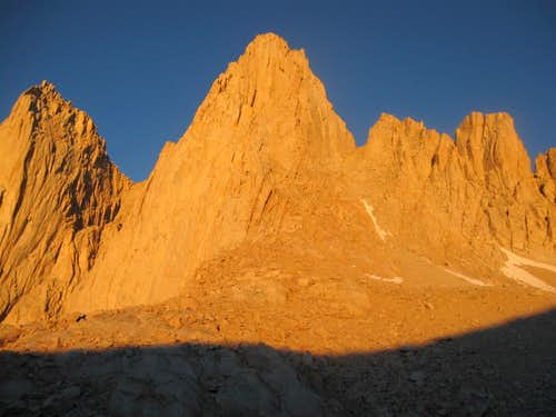 Morning sun on Mt. Whitney