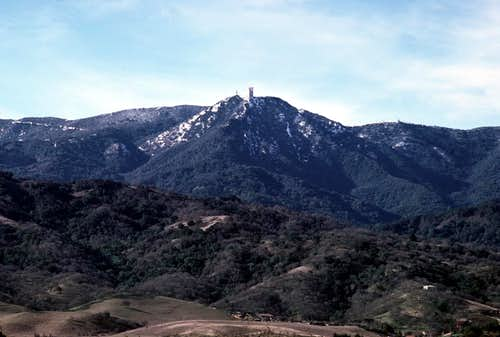 Snow on Mt. Umunhum