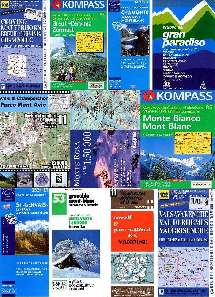 MAPS - Italy - France - Switzerland and Others