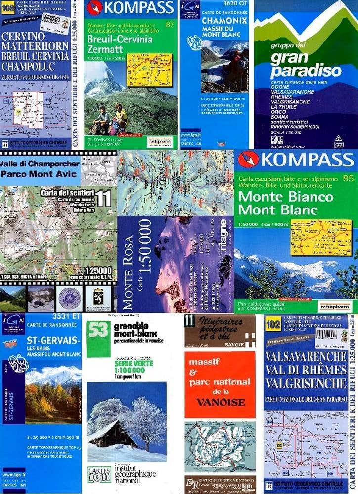 MAPS - Italy - France - Switzerland