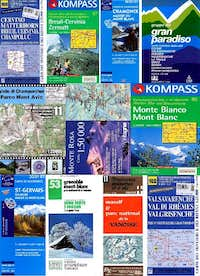 MAPS - Italy - France - Switzerland
