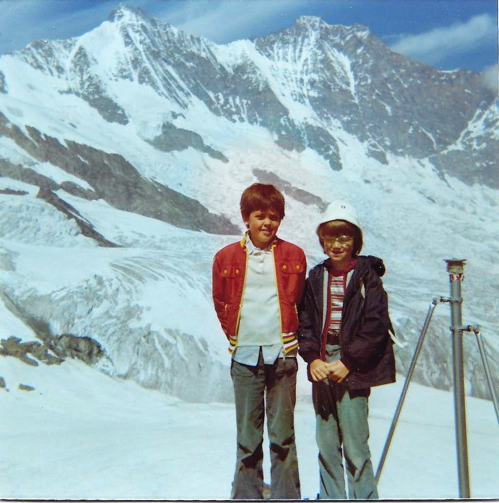 Summer 1974 - me and a friend...