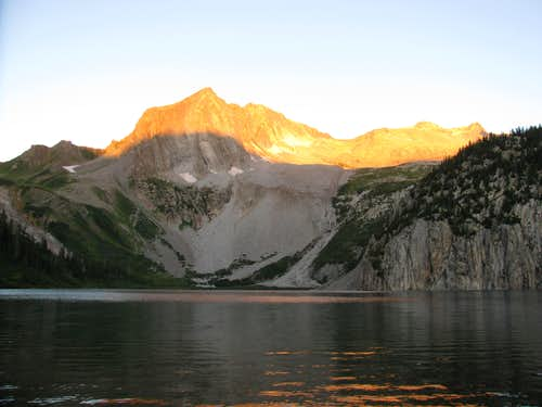 Sunrise at Snowmass Lake