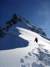 Deep snow on a 2009 attempt.
