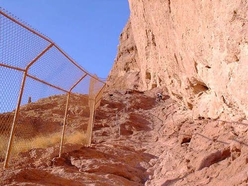 Steepest part of Echo Canyon...