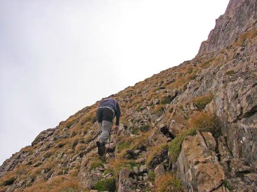 Climbing Diente de Llardana
