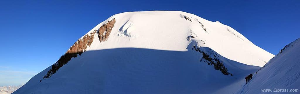 Climbing Elbrus...  Western summit tower...