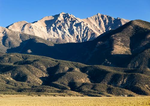 Boundary and Montgomery Peak from Highway 6