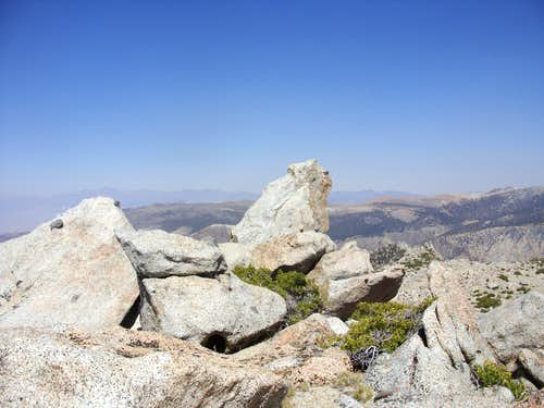 The summit rock