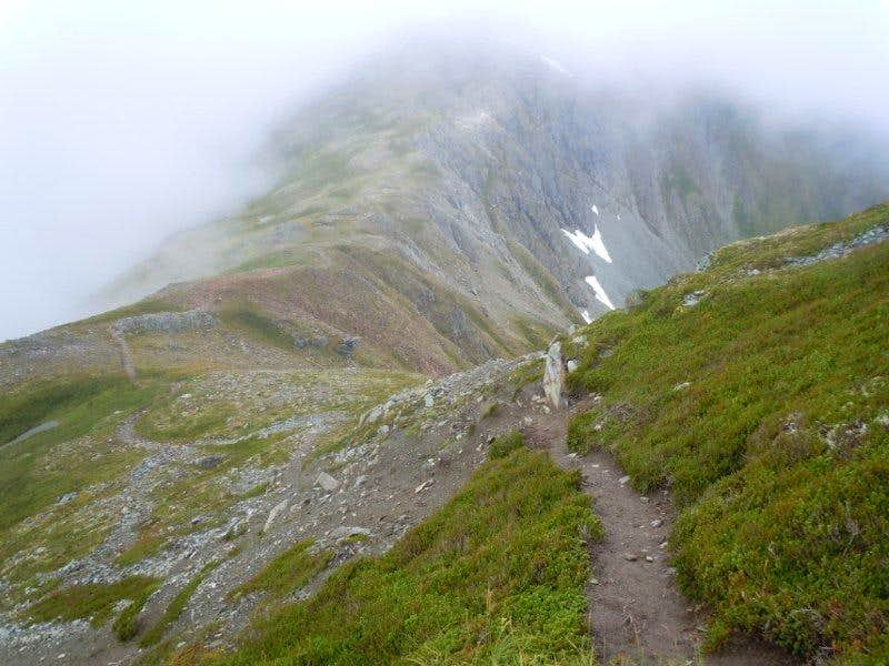 returning to Gastineau Peak