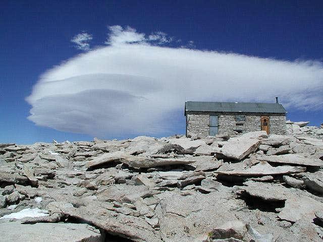 Lenticular clouds near the...