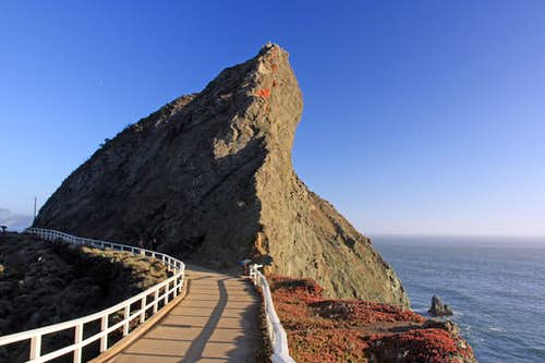 Lighthouse rock at Point Bonita
