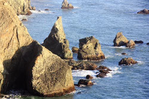 Sea stacks at Point Bonita