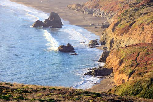 Rodeo Beach from Point Bonita cliffs