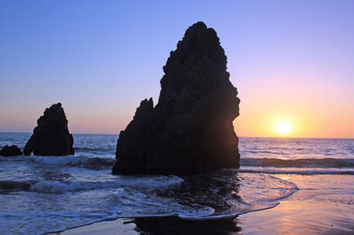 Sea stack sunset, Rodeo Beach