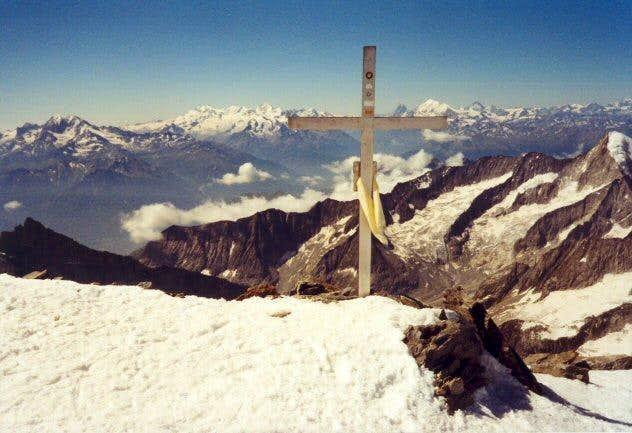 On the summit of Aletschhorn....