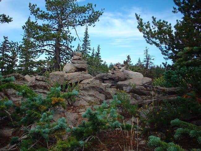Summit cairn marker