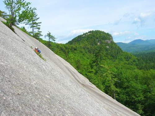 Unkown climber on the slabs...