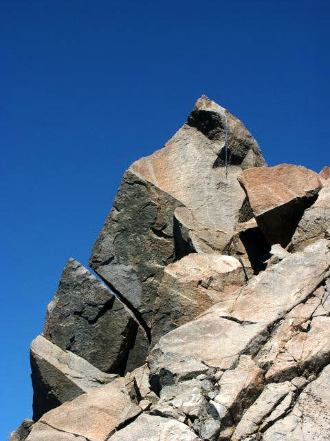 The main summit block of...