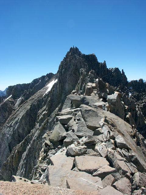 The ridge between Thunderbolt...