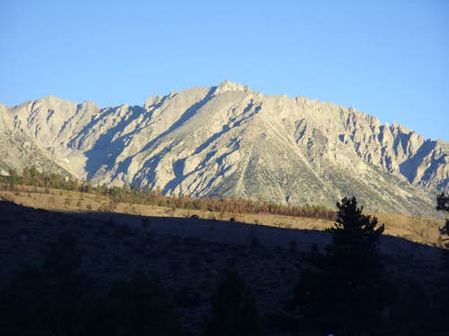 Basin Mountain from Four Jeffrey Campground
