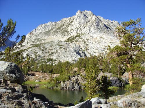 Classic view of Hurd Peak from Long Lake