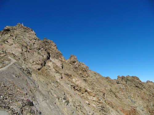 The Rocky summit at 3161m