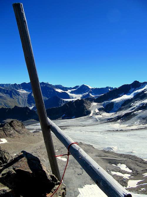 View over the Weisskamm Ridge