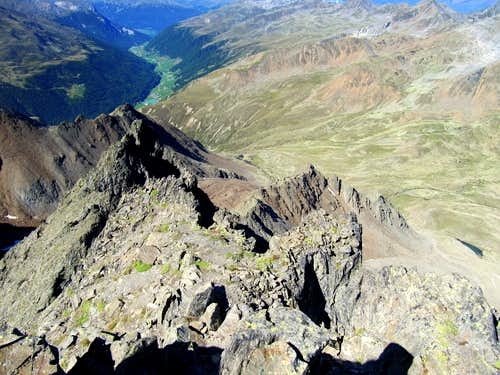 View from the summit towards the WEST