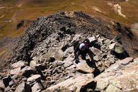 Scrambling to the summit of Matterhorn Peak