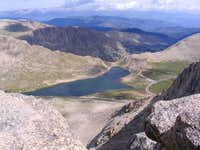 Looking down to Summit Lake...