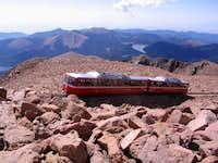 At the top of Pike Peak,...