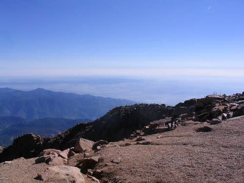 At the top of Pike Peak...
