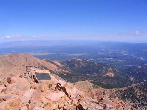 At the top of Pike Peak in...