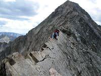 Yunona on the knife edge returning from Capitol Peak