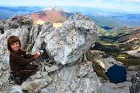 Yunona at the top of Capitol Peak