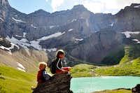 Kids on Cracker Lake