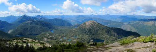 NW Panorama from Klitsa Mountain