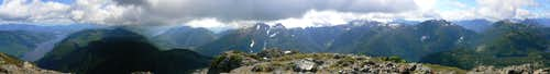 Klitsa Mountain Summit Panorama