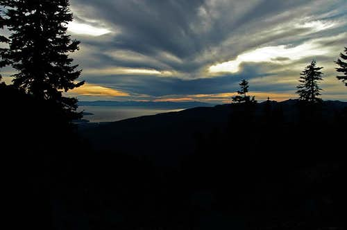 Sunset from Mount Seymour