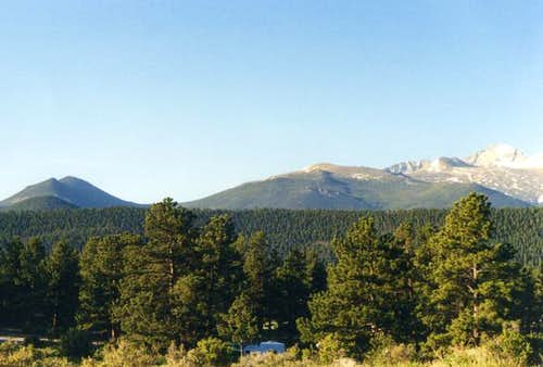 Estes Cone with Longs Peak...