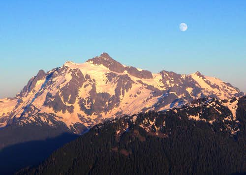 Shuksan And The Moon
