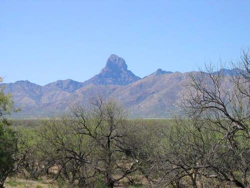 Baboquivari peak from the east